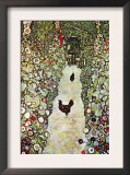 Garden Path with Chickens Poster by Gustav Klimt