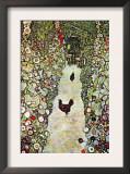 Garden Path with Chickens Poster by Gustav Klimt