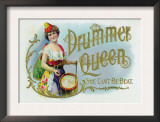 Drummer Queen Brand Cigar Inner Box Label, She Can't Be Beat Prints