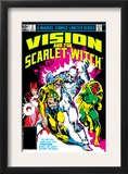 Vision And The Scarlet Witch 2 Cover: Nuklo, Scarlet Witch, Whizzer and Vision Fighting Posters by Rick Leonardi
