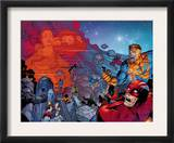 X-Men: The End 4 Group: Titan and Cyclops Fighting Print by Sean Chen