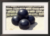 Cannonballs at Fort Moultrie on Sullivan's Island, Charleston Harbor, South Carolina Poster