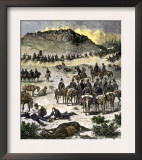 Battle of Birch Creek during the Nez Perce War in Eastern Oregon, c.1878 Poster