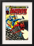 Daredevil 161 Cover: Daredevil, Bullseye and Black Widow Print by Frank Miller