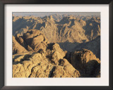 View from Mt. Sinai at Sunrise, Egypt Prints by Rolf Nussbaumer