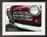 Ruby Vintage Car 18X24 Art by Lisa Weedn