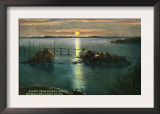Whidbey Island, Washington - Sunset View on Puget Sound from Rosario Beach, c.1928 Poster