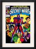 Secret Wars 2 Cover: Magneto, Hulk, Spider-Man, Thing, Iron Man and Thor Print by Mike Zeck