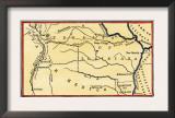 Route of Zebulon Pike across Western Territory to Explore Colorado Region 1805 - 1806 Prints