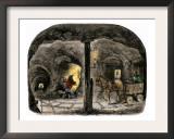 Tunnel in a California Mine, c.1850 Prints