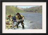 Prospector Panning for Gold Near Sutter's Mill in the American River, Coloma, California Art
