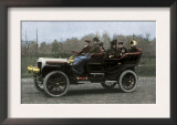 Family Riding in a Steam-Powered White Company Automobile, c.1907 Posters