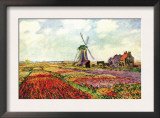 Tulips of Holland Poster by Claude Monet