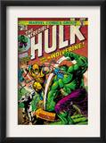 Marvel Comics Retro: The Incredible Hulk Comic Book Cover 181, with Wolverine (aged) Prints