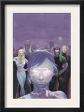 House Of M 5 Cover: Miller, Layla, Wolverine and Emma Frost Flying Prints by Esad Ribic