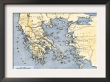 Map of Ancient Greece and its Colonies Prints