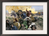 Massacre of Chinese Immigrants at Rock Springs, Wyoming, 1885 Art
