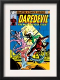 Daredevil 165 Cover: Daredevil and Doctor Octopus Crouching Prints by Frank Miller