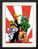 The Official Handbook Of The Marvel Universe Teams 2005 Group: Sunfire Art by Gus Vazquez
