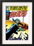 Daredevil 166 Cover: Daredevil and Gladiator Fighting Prints by Frank Miller
