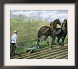 Farmer Plowing Sod with a Team of Horses, c.1800 Art