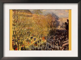 Boulevard of Capucines In Paris Posters by Claude Monet