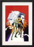 Sable & Fortune 1 Cover: Silver Sable, Fortune and Dominic Fighting Poster by John Burns