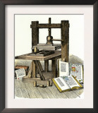 Gutenberg&#39;s Printing Press, Mainz, Germany, 1450s Prints