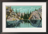 Custer State Park, South Dakota - Reflection View on Sylvan Lake, c.1937 Art