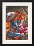 Avengers V3 78 Cover: Captain America, Iron Man, Scarlet Witch and Avengers Posters by Scott Kolins