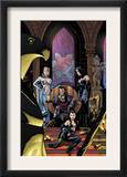 Uncanny X-Men 454 Cover: White Queen, Shaw, Sebastian, Black Queen and Hellfire Club Charging Prints by Stuart Immonen