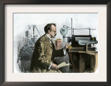 Professor J. J. Thomson in His Laboratory Print