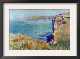 Cliffs At Varengeville Poster by Claude Monet