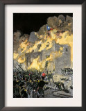 Fall of the Alamo to Santa Anna's Mexican Forces in Texas, 1836 Prints
