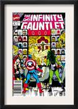 Infinity Gauntlet 2 Cover: Captain America, Thor and She-Hulk Posters by George Perez