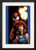 Ultimate Spider-Man 78 Cover: Mary Jane Watson and Spider-Man Art by Mark Bagley