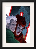 Avengers: Earths Mightiest Heroes 7 Cover: Quicksilver and Scarlet Witch Print by Scott Kolins