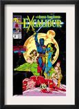 Excalibur 16 Cover: Nightcrawler, Phoenix, Shadowcat and Kymri Posters by Alan Davis