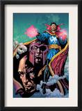 Excalibur 13 Cover: Dr. Strange, Magneto and Professor X Prints by Aaron Lopresti