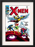 X-Men 49 Cover: Angel, Iceman, Cyclops, Grey, Jean, Beast, X-Men and Marvel Girl Prints by Werner Roth