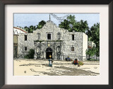 The Alamo in San Antonio, Texas, 1800s Prints