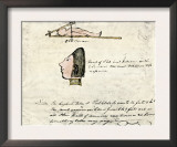 William Clark's Sketch of Flathead Indians in His Diary, c.1804-1806 Prints