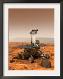 Artists Rendition of Mars Rover Prints by  Stocktrek Images