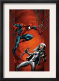 Ultimate Spider-Man 88 Cover: Spider-Man and Silver Sable Posters by Mark Bagley