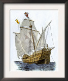 Caravel Santa Maria, the Flagship of Columbus' First Voyage Prints