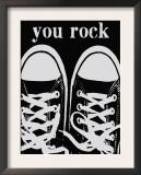 You Rock Black Sneakers Prints by Lisa Weedn
