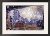The Gare Saint-Lazare Prints by Claude Monet