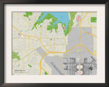 Political Map of Grapevine, TX Print