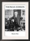 Thomas Edison - Menlo Park Poster
