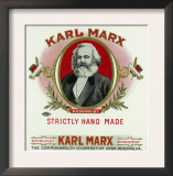 Karl Marx Brand Cigar Box Label, Karl Marx Posters